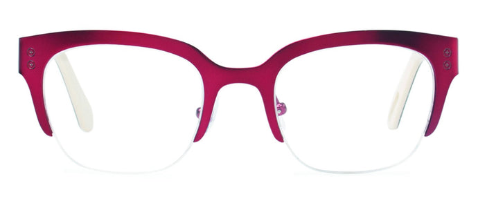 Cynthia Rowley Eyewear CR 5032 No. 26 Satin Oxblood Square Metal Eyeglasses