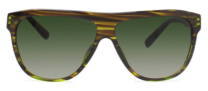 Cynthia Rowley Eyewear CR 6019S No. 15 Olive Stripe Aviator Plastic Sunglasses
