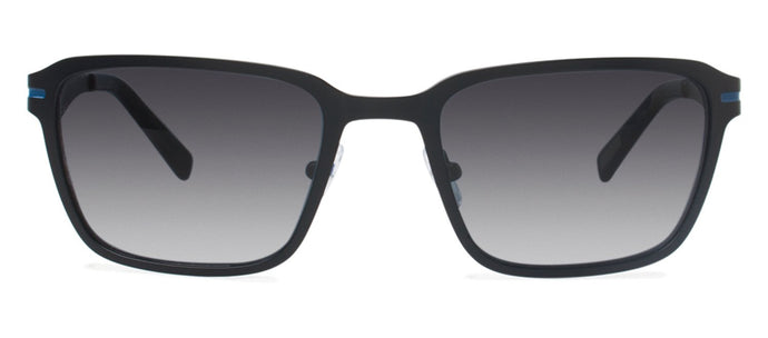 Cynthia Rowley Eyewear CR 6020S No. 37 Black Rectangle Metal Sunglasses
