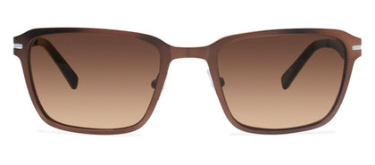 Cynthia Rowley Eyewear CR 6020S No. 37 Matte Brown Rectangle Metal Sunglasses
