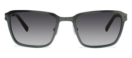 Cynthia Rowley Eyewear CR 6020S No. 37 Matte Hunter Rectangle Metal Sunglasses