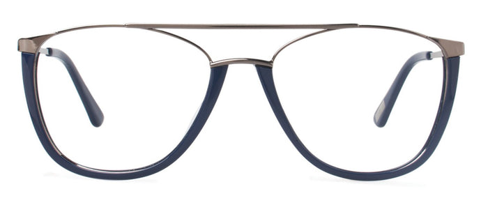 Cynthia Rowley Eyewear CR 6022 No. 76 Navy Aviator Metal Eyeglasses
