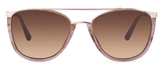 Cynthia Rowley Eyewear CR 6022S No. 76 Blush Aviator Metal Sunglasses