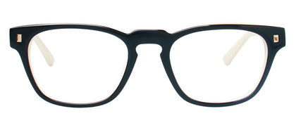 Cynthia Rowley Eyewear CR 5029 No. 49 Black/Ivory Square Plastic Eyeglasses