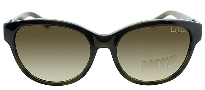 Nicole Miller NM Reade Fashion Metal Sunglasses - Olive with Brown Gradient Lens
