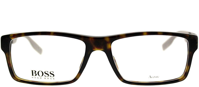 Hugo Boss BOSS 0566 AQL Black Rectangle Plastic Eyeglasses