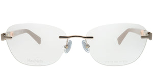 MaxMara MM 1311 35J Pink Rimless Metal Eyeglasses