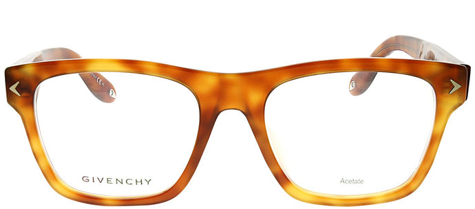 Givenchy GV 0010 TEN Light Havana Rectangle Plastic Eyeglasses