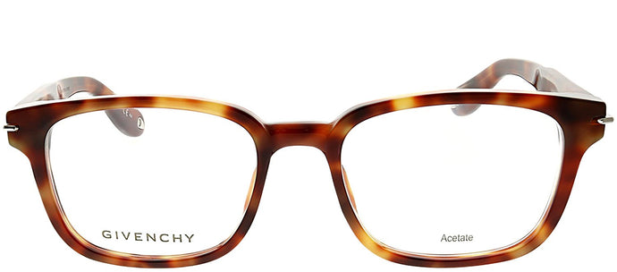 Givenchy GV 0013 VMB Light Tortoise Rectangle Plastic Eyeglasses
