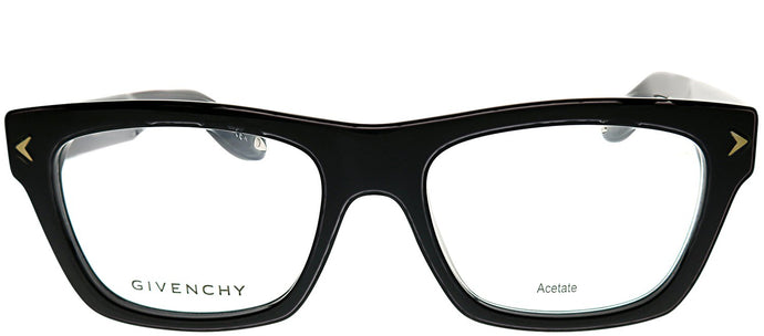 Givenchy GV 0017 807 Black Rectangle Plastic Eyeglasses