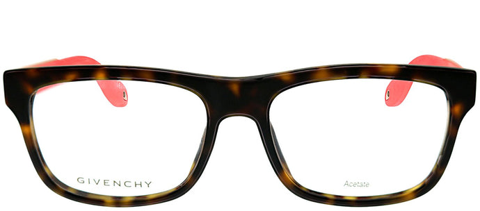 Givenchy GV 0018 WT1 Tortoise Pink Rectangle Plastic Eyeglasses