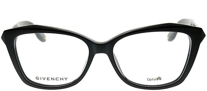 Givenchy GV 0021/F QOL Black on Crystal Rectangle Plastic Eyeglasses