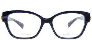 Alexander McQueen AMQ 4246 8RP Stripped Violet Cat-Eye Plastic Eyeglasses