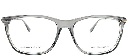 Alexander McQueen AMQ 4279 FT5 Transparent Grey Rectangle Plastic Eyeglasses
