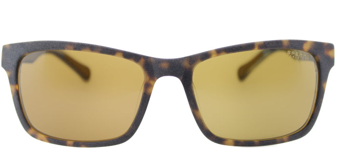 Sperry SP Falmouth C01 Rectangle Plastic Sunglasses - Matte Tortoise Navy Plaid with Brown Lens