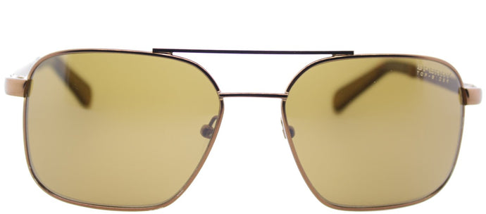 Sperry SP Chatham C01 Square Metal Sunglasses - Matte Copper with Brown Lens