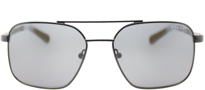 Sperry SP Chatham C01 Square Metal Sunglasses - Black with Grey Lens