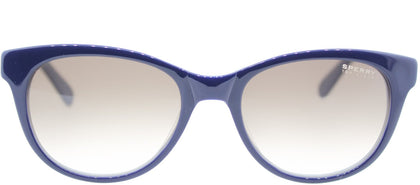 Sperry SP Hatteras Fashion Plastic Sunglasses - Navy Light Blue with Brown Gradient Lens