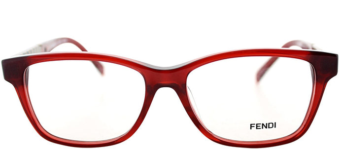 Fendi FE 1000 Rectangle Plastic Eyeglasses - Dark Red