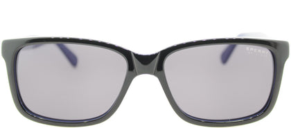 Sperry SP Maverick C01 Rectangle Plastic Sunglasses - Black Cobalt with Blue Lens