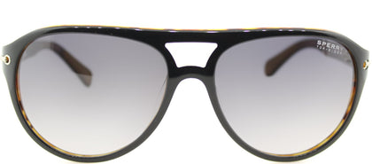 Sperry SP Newport C02 Aviator Plastic Sunglasses - Grey Tortoise with Blue Gradient Lens