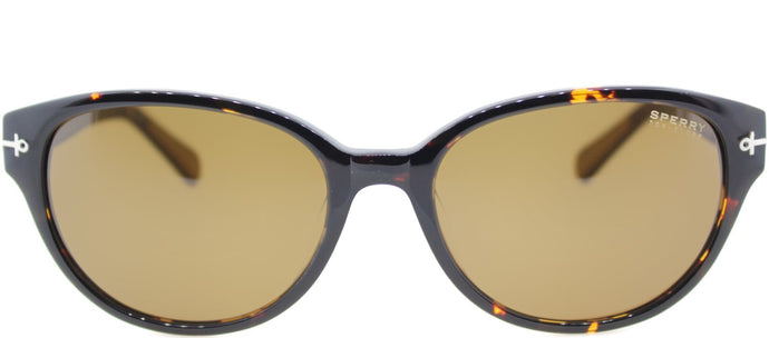 Sperry SP Greenwich Oval Plastic Sunglasses - Tortoise with Brown Lens