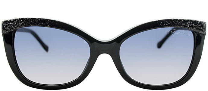 Roberto Cavalli Acrux RC 788S 01B Black Cat-Eye Plastic Sunglasses