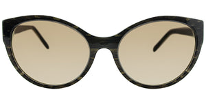 Roberto Cavalli Alrischa RC 824S 57F Brown Cat-Eye Plastic Sunglasses