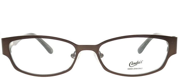 Candies CAN SKYE MBRN Matte Brown Rectangle Metal Eyeglasses