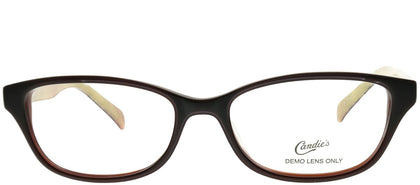 Candies CAN ISLA BRN Brown Rectangle Plastic Eyeglasses