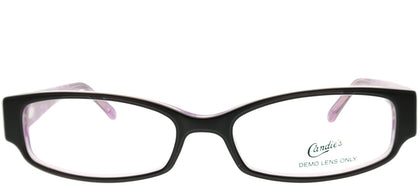 Candies CAN ASIA BLKP Black Rectangle Metal Eyeglasses