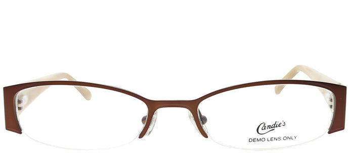 Candies CAN ALBA BRN Brown Oval Metal Eyeglasses