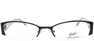 Candies CAN ALBA BLK Black Oval Metal Eyeglasses