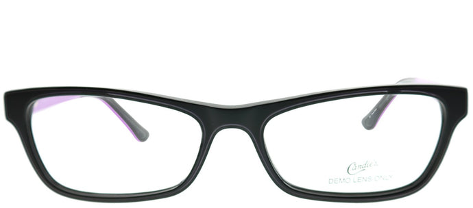 Candies CAN A012 005 Black Rectangle Plastic Eyeglasses