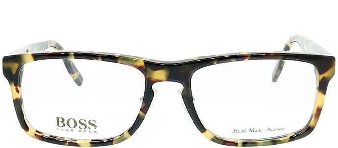 Hugo Boss BOSS 0463 SR3 Brown Havana Rectangle Plastic Eyeglasses