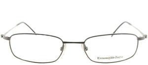 Ermenegildo Zegna VZ 3008C 0568 Ruthenium Rectangle Metal Eyeglasses