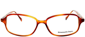 Ermenegildo Zegna VZ 3501 0711 Amber Brown Rectangle Plastic Eyeglasses
