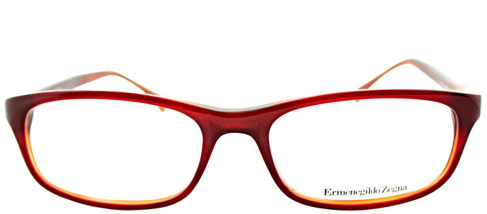 Ermenegildo Zegna VZ 3502 06XR Burgundy Rectangle Plastic Eyeglasses