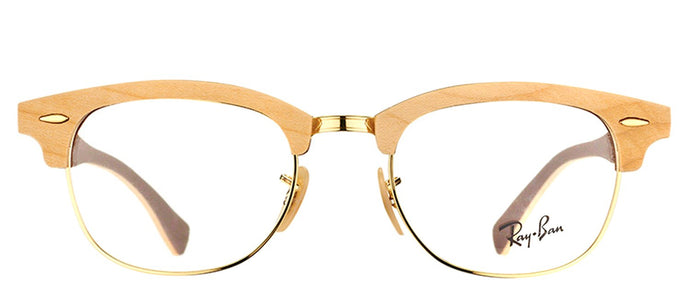 Ray-Ban RX 5154M Clubmaster Wood Eyeglasses - Maple