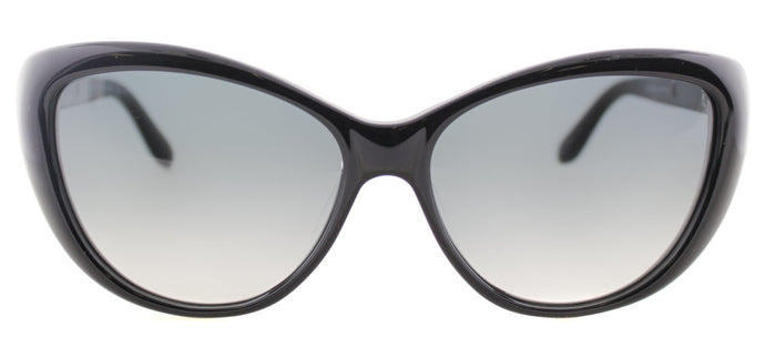 Marc By Marc Jacobs MMJ 366 Cat-Eye Plastic Sunglasses - Shiny Black with Grey Gradient Lens