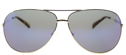 Marc By Marc Jacobs MMJ 444 Aviator Metal Sunglasses - Gold with Blue Mirror Lens