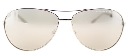 Marc By Marc Jacobs MMJ 343 Aviator Metal Sunglasses - Palladium with Silver Mirror Lens