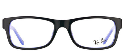 Ray-Ban RX 5268 5179 Black On Blue Rectangle Plastic Eyeglasses