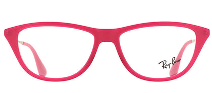 Ray-Ban RX 5234 Cat-Eye Plastic Eyeglasses - Rubber Gloss Fuxia