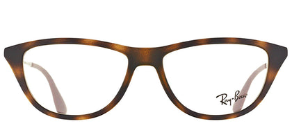 Ray-Ban RX 5234 Cat-Eye Plastic Eyeglasses - Rubber Havana