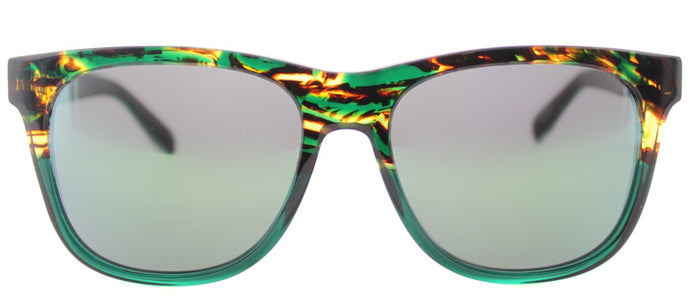 Marc By Marc Jacobs MMJ 360/N Square Plastic Sunglasses - Havana on Green Crystal with Green Mirror Lens