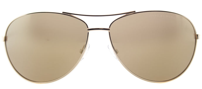 Marc By Marc Jacobs MMJ 343 Aviator Metal Sunglasses - Rose Gold with Gold Mirror Lens
