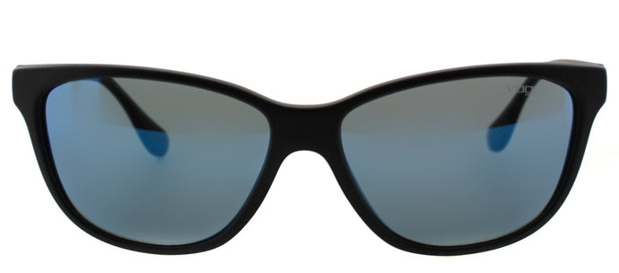 Vogue Eyewear VO 2729S W44/55 Matte Black And Transparent Blue Cat-Eye Plastic Sunglasses
