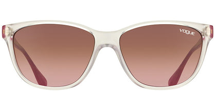 Vogue Eyewear VO 2729S W74514 Matte Transparent And Berry Cat-Eye Plastic Sunglasses