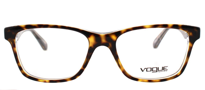 Vogue Eyewear VO 2787 1916 Havana On Transparent Square Plastic Eyeglasses